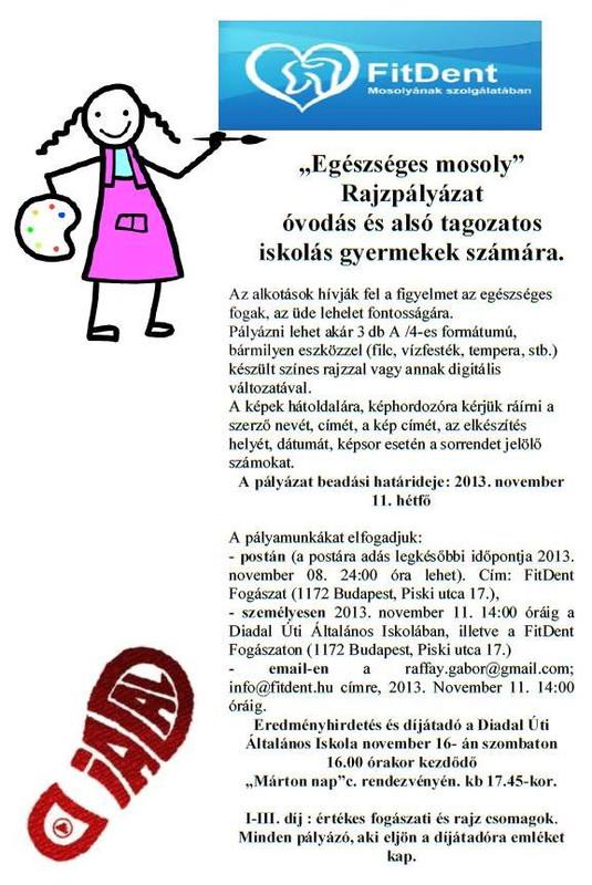 FitDent rajzpályázat plakát 2013