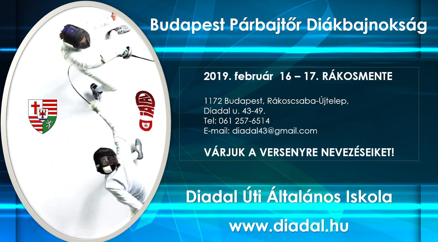 Diadal Úti Általános Iskola: Budapest Párbajtõr Diákbajnokság 2019.png - indafoto.hu