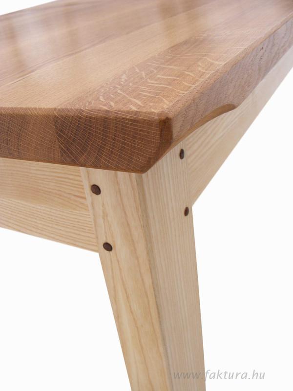 Tölgy asztal részlet