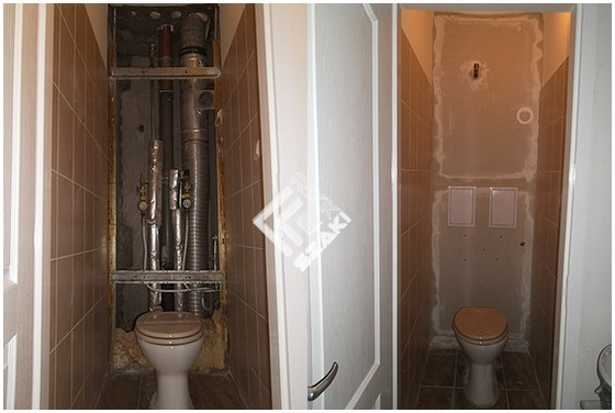 Panel lakás Wc.felújítás,kartonozás,szerelő ajtó beépítése. - Rikk ...