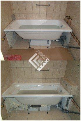 Panel lakás fürdőkád csere,falazás,burkolás. - Rikk-szaki ...