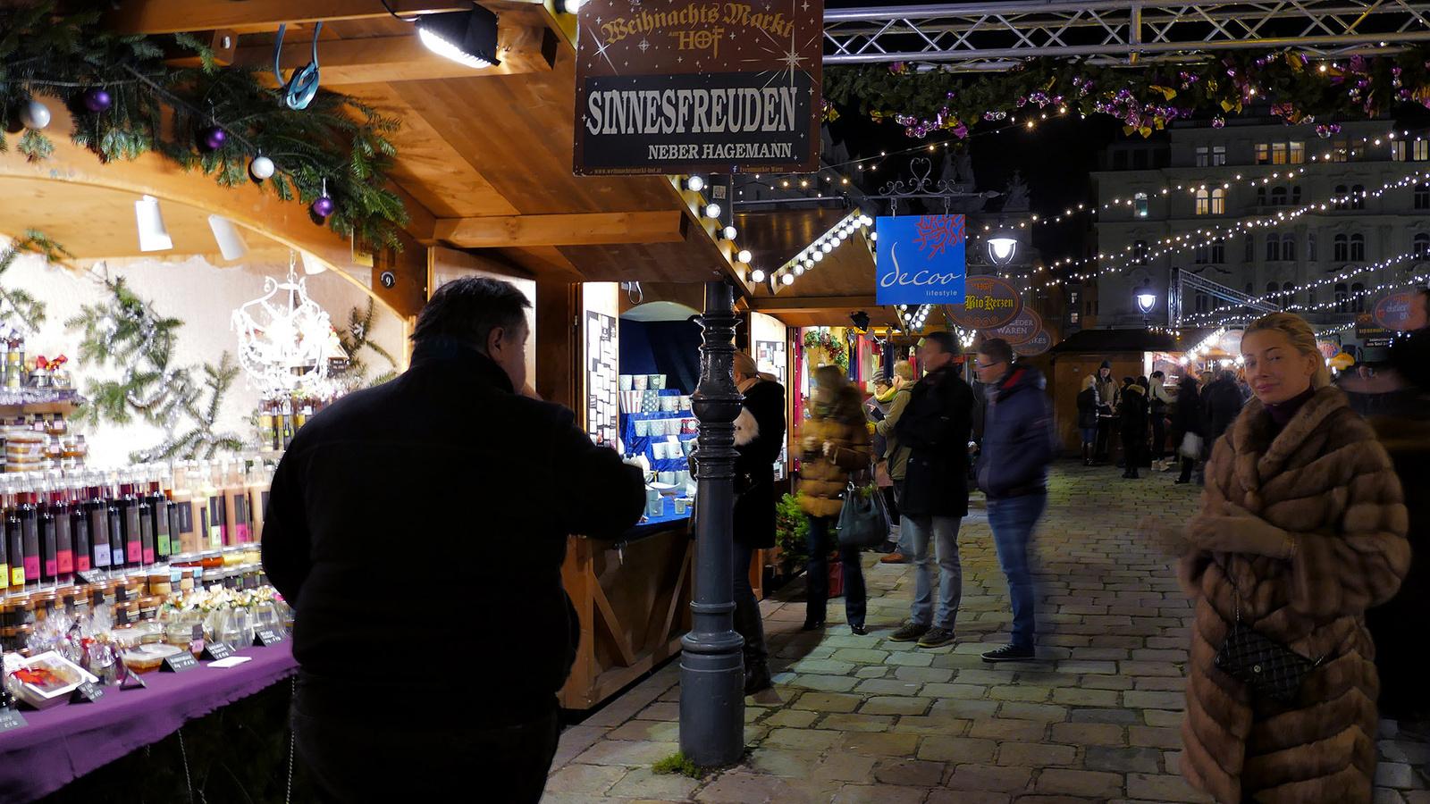 Bécs - weihnachten Markt Am Hoh. Sinnesfreuden