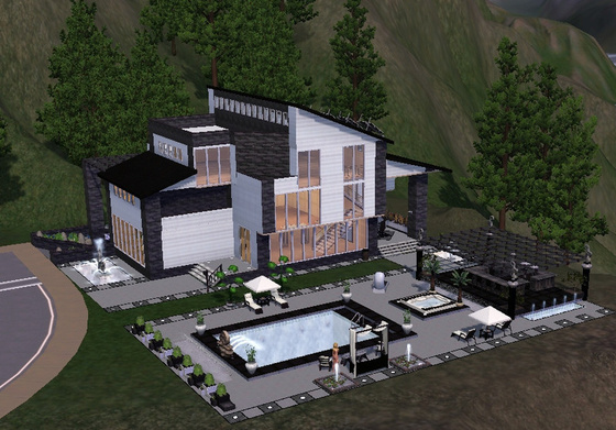 Modern house sims 3 ps3