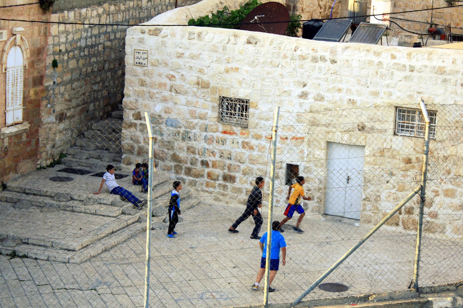 Foci Jeruzsálem óvárosa muszlim negyedében