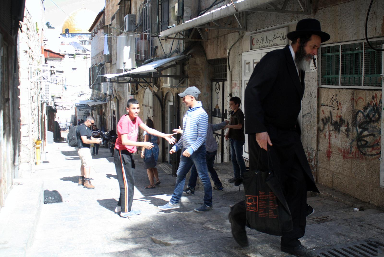 Jeruzsálem óvárosi utca
