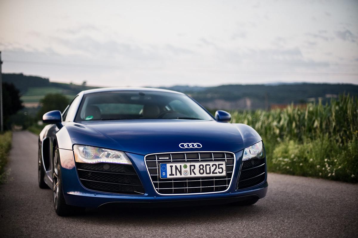 fenyob: Audi R8 V10 szemből