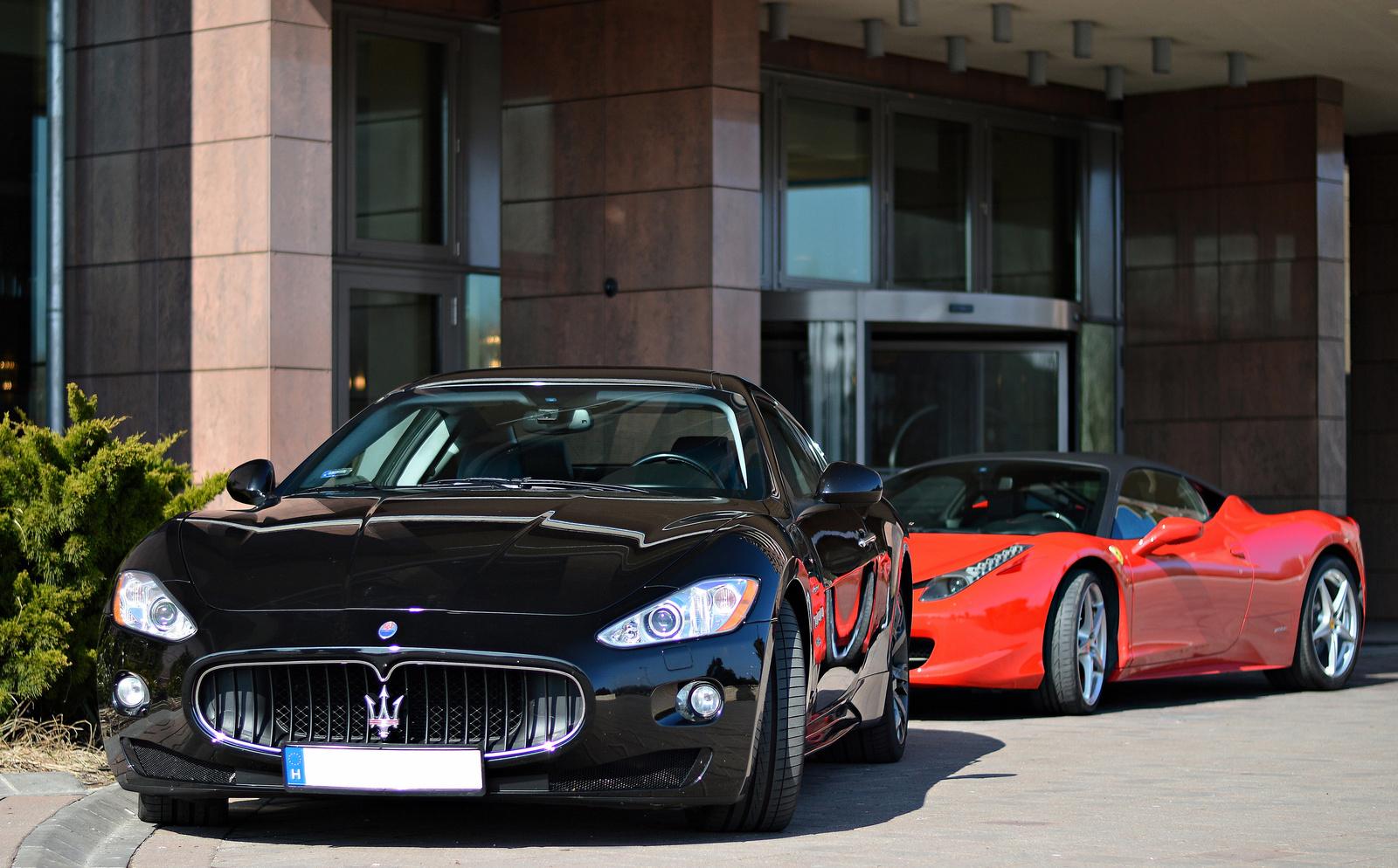 Maserati GranTurismo S -- 458 Italia