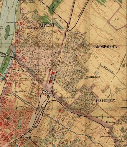 Rakospalota Pestujhely Es Ujpest Terkepe 1928 Bol Palotabarat