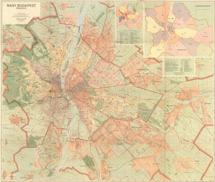 Nagy Budapest Terkep 1947 Bol Palotabarat Indafoto Hu