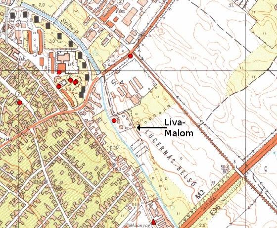 A Liva-malom térképen