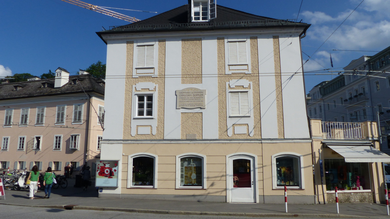 Salzburg, Gebursthaus Christian Doppler, SzG3