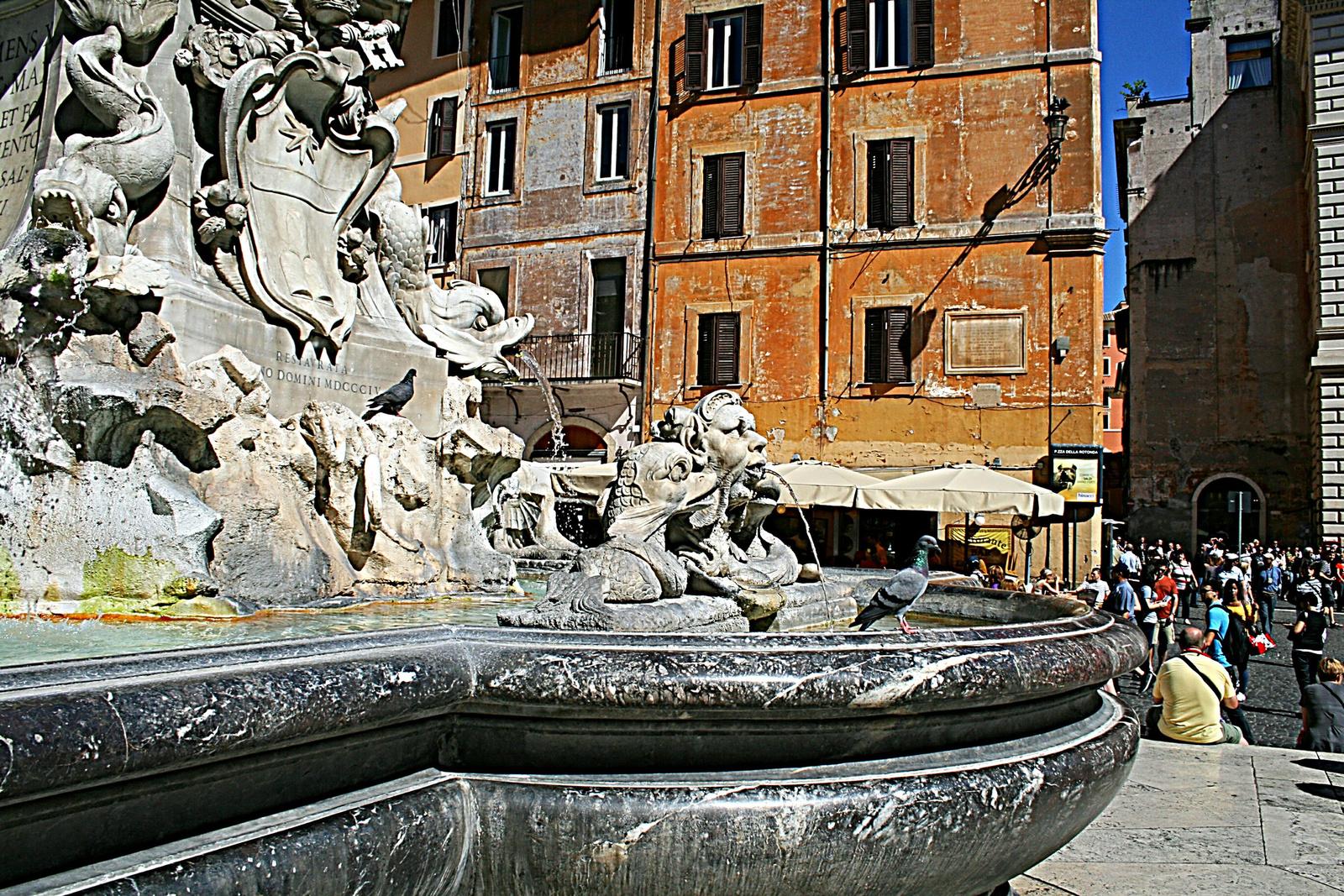 Vízköpő a Pantheonnál