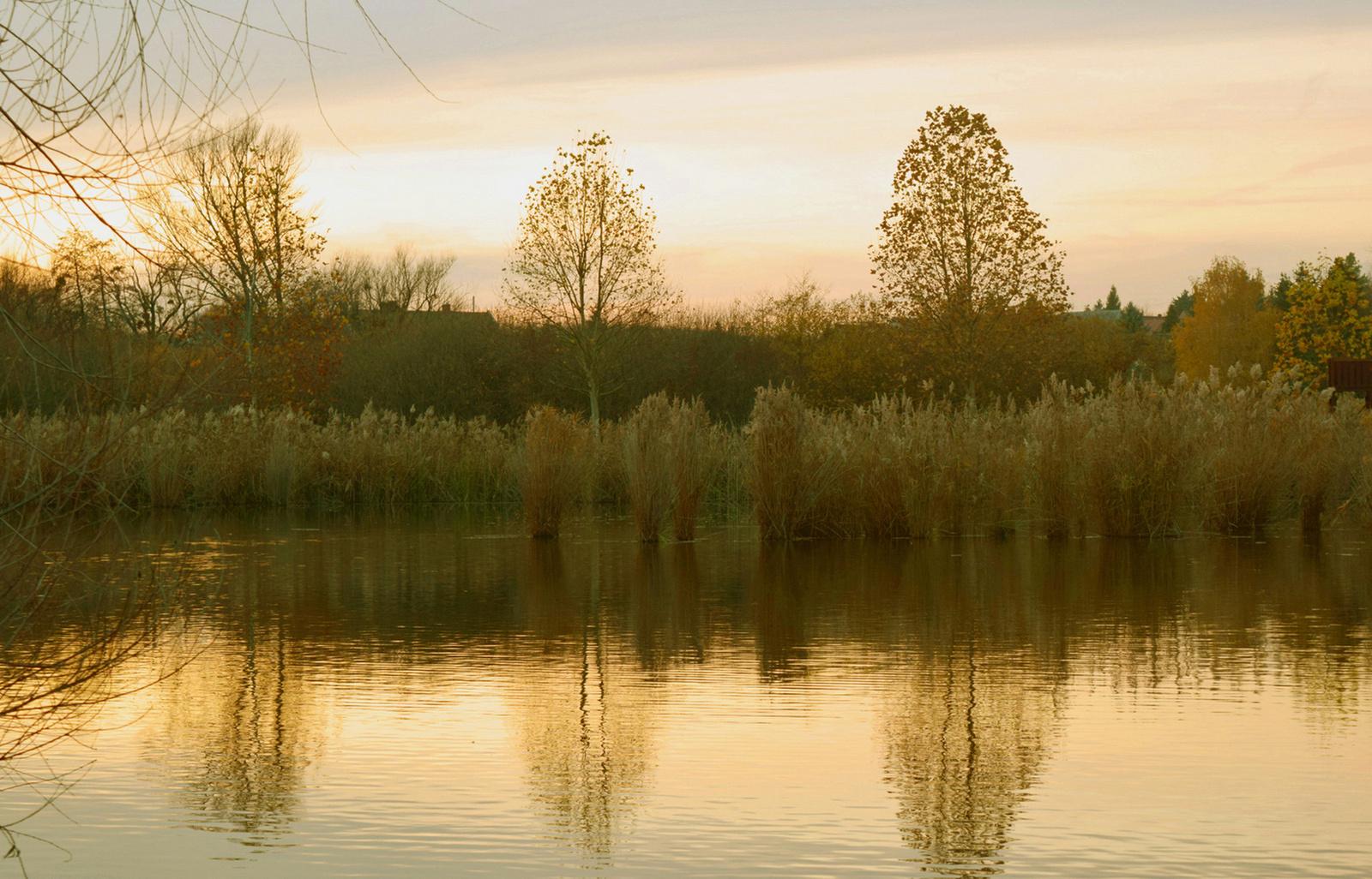 Alkonyodik a tó felett