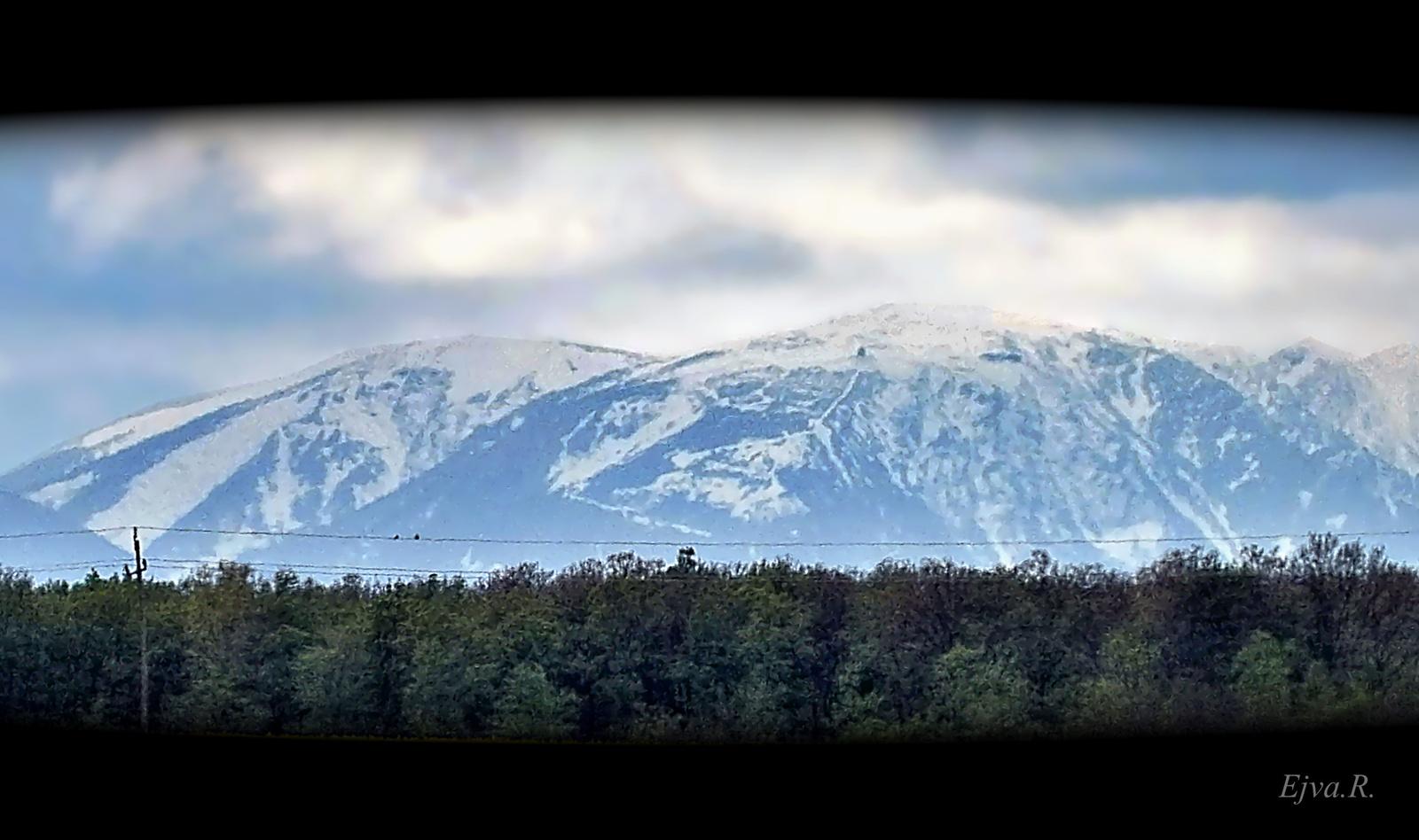 Schneeberg hegy a távolból