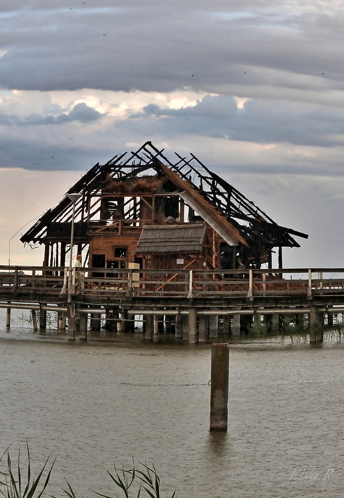 A tűz martaléka /Fertő tó Csónakházak Tűz után