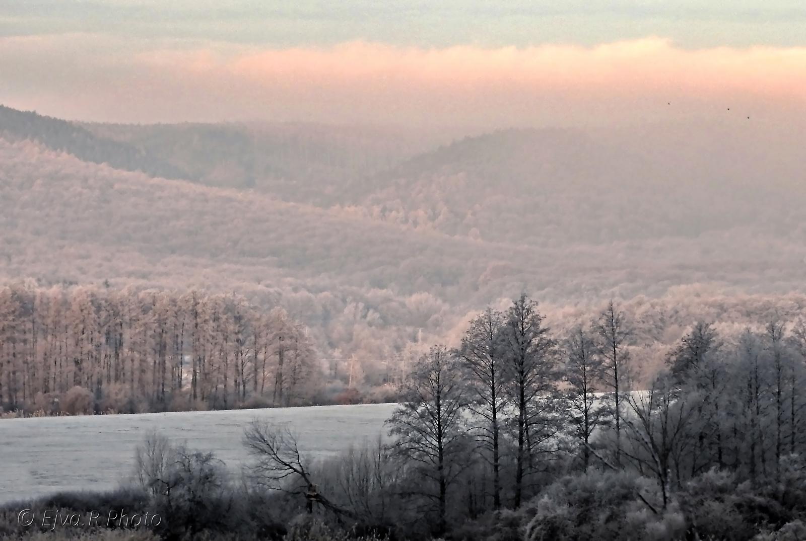 Zúzmara Tél Táj