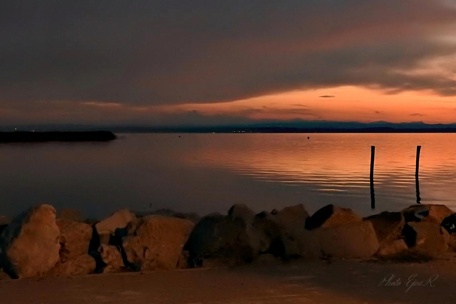 Fertő tó este