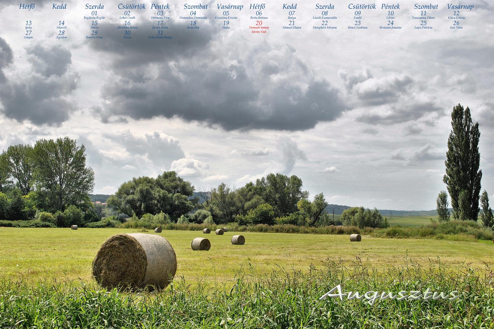 Augusztus - mező