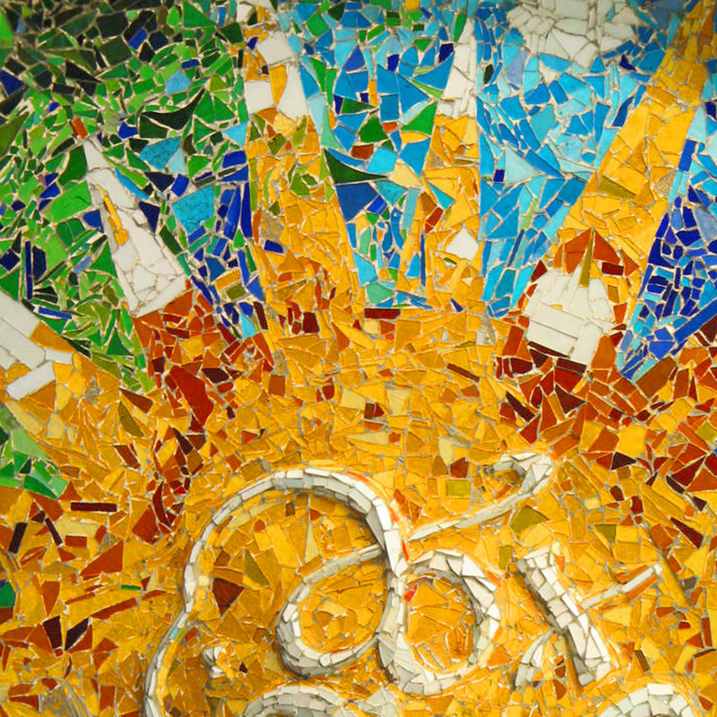 Gaudi - mozaik nap - Barcelonában