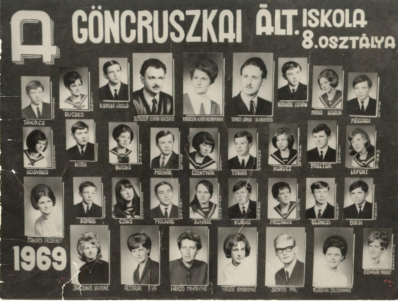 Ált. Iskola, Göncruszka 1969.