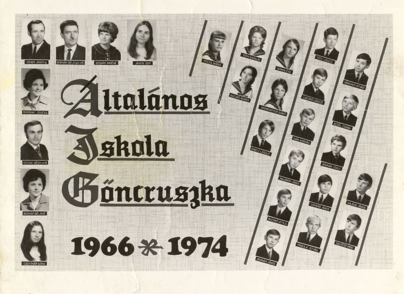 Ált. Iskola  Göncruszka 1974.
