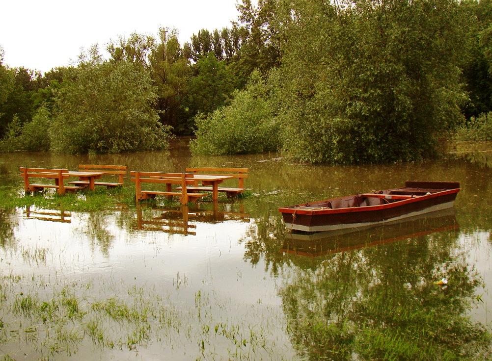 Piknik, csónakkal