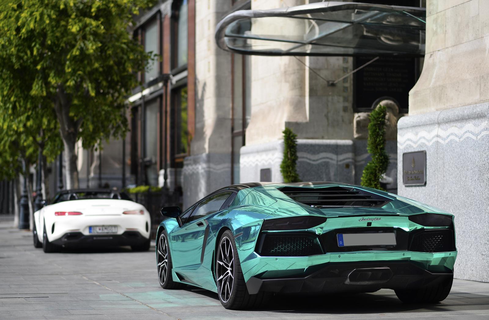 Mercedes AMG GT C Roadster - Lamborghini Aventador