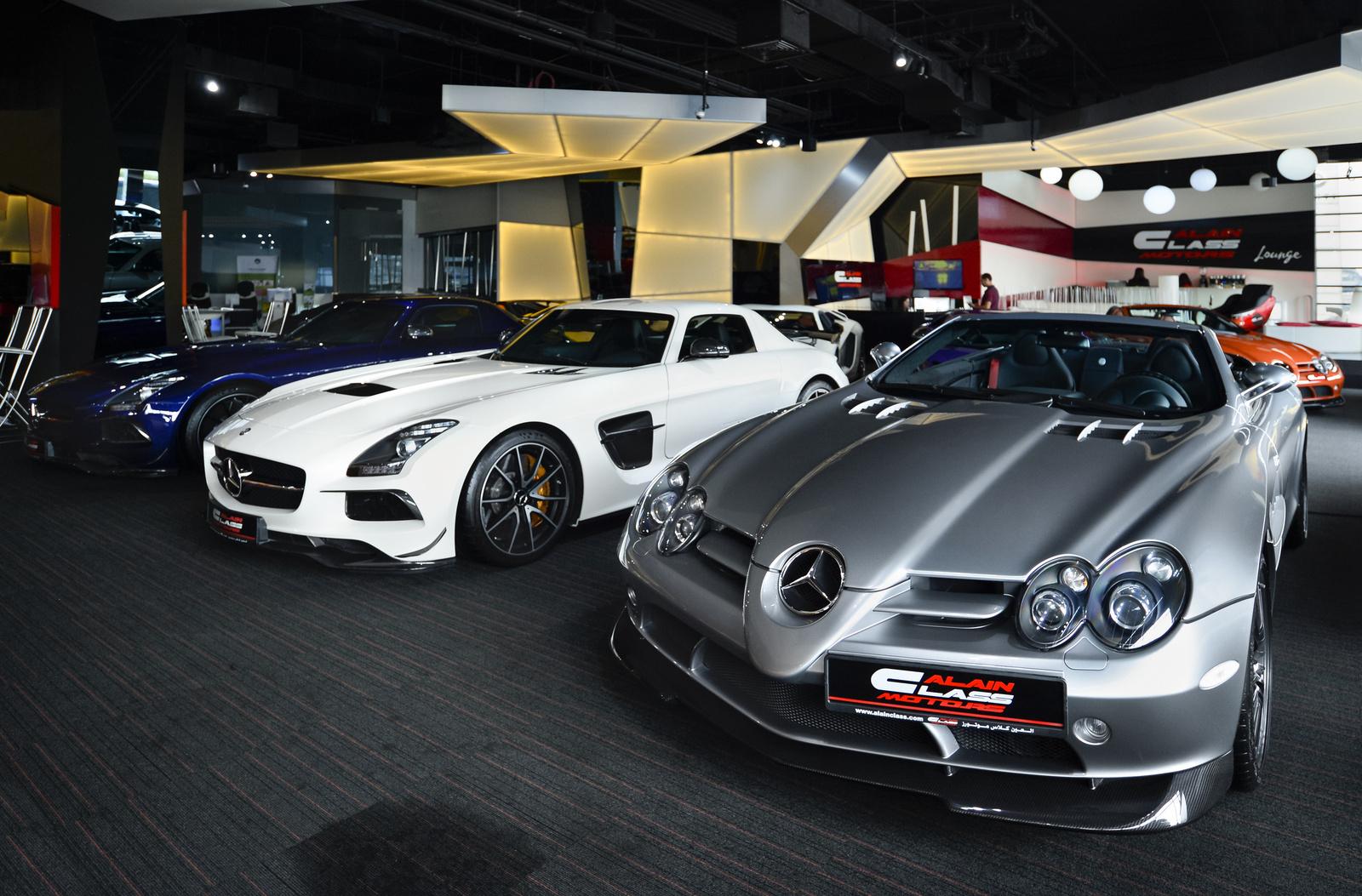 2X Mercedes SLS AMG Black Series - 2X Mercedes SLR 722 S