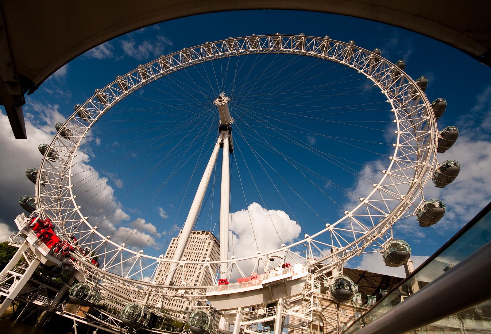 London Eye a kikötőből