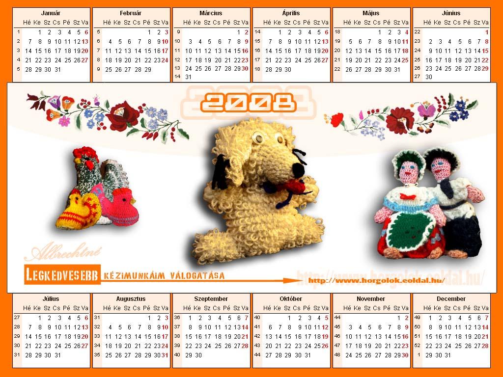 2008 január naptár 2008 as naptár   Albrechtné   indafoto.hu 2008 január naptár