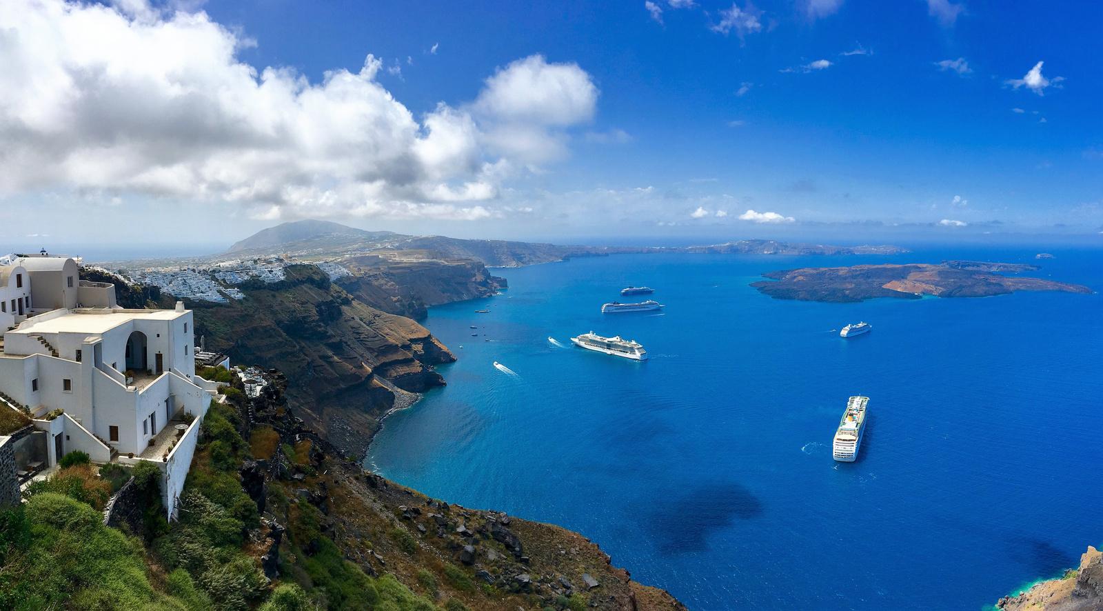 Santorini látképe