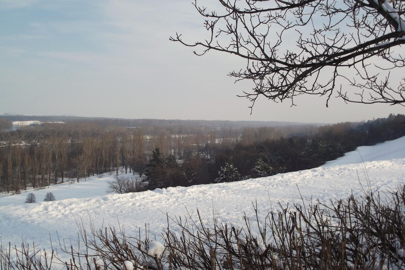 Napfényes téli táj